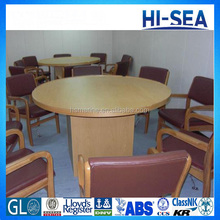 Hot Sale Cheap Fireproof Round Wood Marine Mess Table