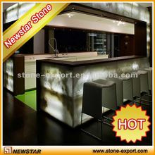 Newstar natural stone lighted onyx bar tops