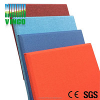 flame retardant fabric covered leather outside packed acoustic panel with fireproof&waterproof