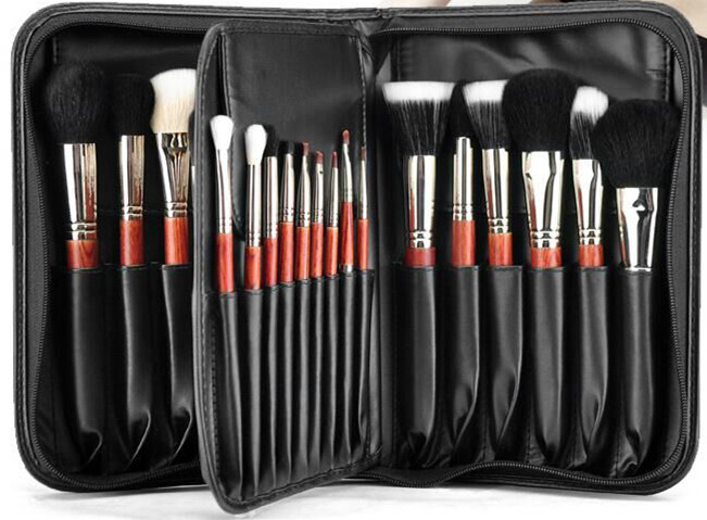 Good quality 20 pcs makeup brushes set with PU leather bag