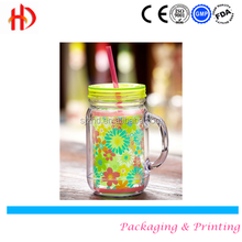 Wedding Favor glass mason jars with colorful lids