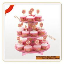 Customized disposable cup cake pan flower shaped cupcake stand