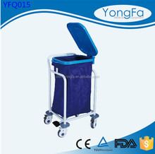 Double bags Medical Waste Linen Trolley,Single Bag Hospital Linen Dirty Trolley,Hospital Waste Linen Trolley