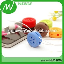 Promotional Gift Silicone Earphone Cable Tidy
