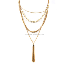 wholesale 20 grams gold chain rosary glass beads necklace sets designs