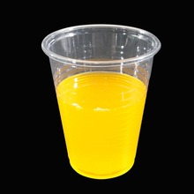 200 ml Disposable Plastic Printed Clear Transparent Drink cup with free samples