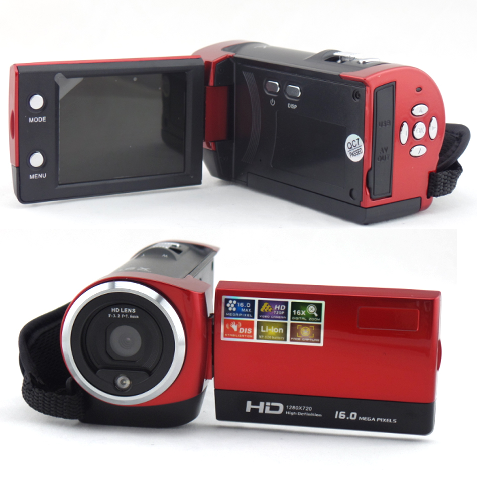 Digital Camera Video Camcorder 16Mp Resolution 1280x720P HD Video