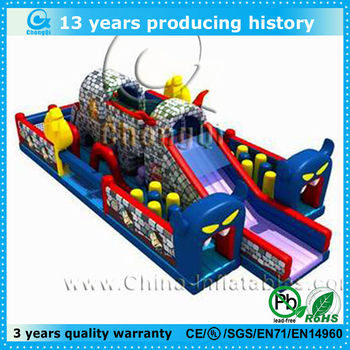 latest design amusement park inflatable slide big