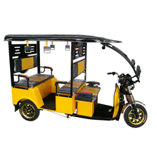 Long Rang Electric Tricycle 60V 1200W Bajaj Auto Rickshaw Closed Cabin Assisted Trike Tuk Tuk For Passenger In Vietnam Thailand