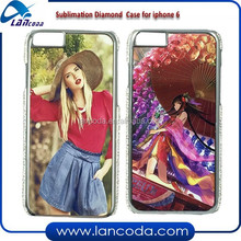 blank Sublimation diamond bling case for iphone6 4.7 inch,sublimation crystal phone case,sublimation case