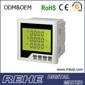 DIGITAL THREE -PHASE AC AMMETER PHASING METER RH-3AA73
