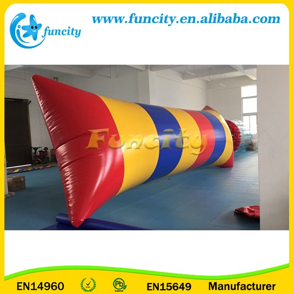 0.9mm PVC Tarpaulin Airtight Inflatable Water Catapult Blob For Sale