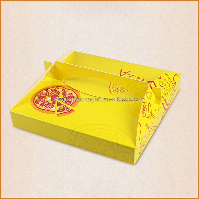 Recyclable Disposable Food Industrial Use delivery pizza paper box with packaging solution