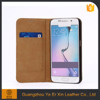 China supplier wholesale custom blu bulk leather cell phone case for samsung galaxy s6 s7