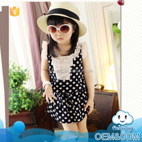 2016 summer cool black polka dot fashion soft good quality cheap lace baby fairy night frock design child new model girl dress