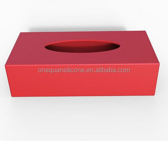 factory wholesale recyclable creative silcione tissue square box napkin box night <strong>bar</strong>