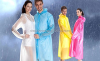 Plastic Material Raincoats Type Disposable Rain Poncho