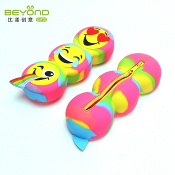 Multifunction Fashion Stationery Silicone Zipper Smiggle soccer pencil case