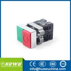 HUAWU XB2-BL8425 22MM metal double push button switch NO+NC momentary push button switch on off