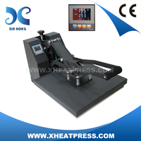 Clam shall sublimation t shirt heat transfer flat heat press machine