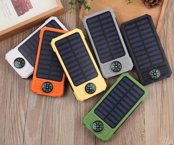 Portable Mobile Phone solar power bank 10000mAh solar battery charger