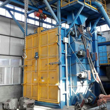 DISA Spinner Hanger Shot Blasting Machine With hook/Overhead Monorail Conveyor Sand Blasting Machine
