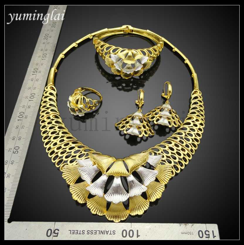 FHK2931 wholesale african jewelry 24k gold jewellery dubai african jewelry sets