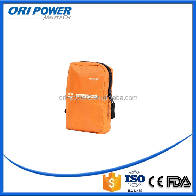 OP CE FDA ISO approved yellow fashion mini portable soft bag mini hiking practical medical kit