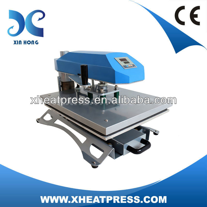 bullet design flat automatic pneumatic heat transfer presser machine t-shirt FJXHB1