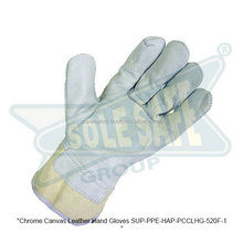 Chrome Canvas Leather Hand Gloves ( SUP-PPE-HAP-PCCLHG-520F-1 )