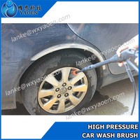 High Quality Water Through Car Tyre Cleaning Brush / Plastic Hair Car Tire Hub Brush