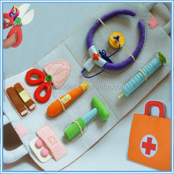 DIY KIT, Felt doctor set toy-toy nurse set,Toy Doctor Kit