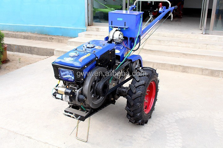 GWW 10HP cheap farm electric start hand walking tractor for sale