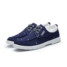 SM2007 Casual style lace up teenage boys mens printing canvas shoes