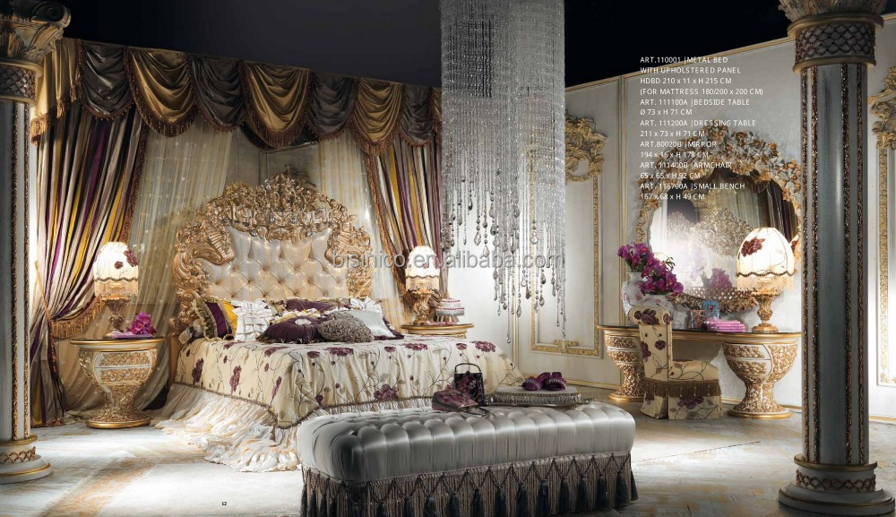 Di lusso italiano stile di design ottone e mobili in legno - Sala da pranzo stile barocco ...