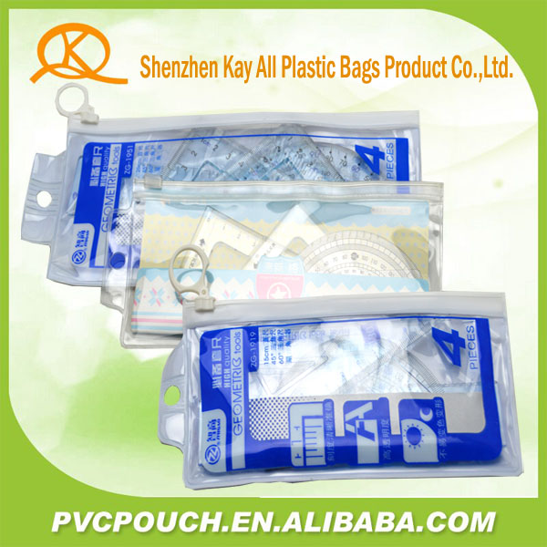 china supplier unisex plastic ruler pouch bag for school supplies