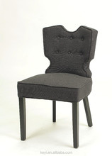 black color button design create style chair/fabric material restaurant chair(KY-3355)