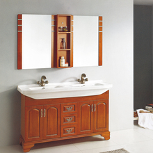 HS-G13151 china cheap storage cabinet bathroom lowes double sink vanity