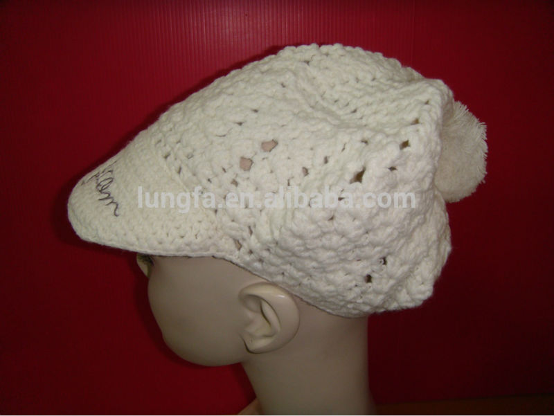 Contemporary unique snow knit beanie alpine hat