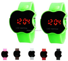 Apple shape silicone led watch touch screen watch