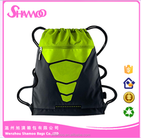 ECO-freindly Polyester Drawstring Laundry Bag With Zippered Pocket for sports