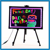 Factory Price ZD Advertising Sign Board Aluminum Alloy Frame Acrylic LED Display Sign RGB5050 Mini LED Open Sign