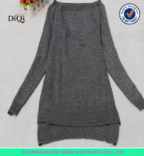 fashion casual long pattern garment front short back long sweater dress