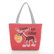 Eco-friendly hot selling customized wholesale women canvas beach tote bags