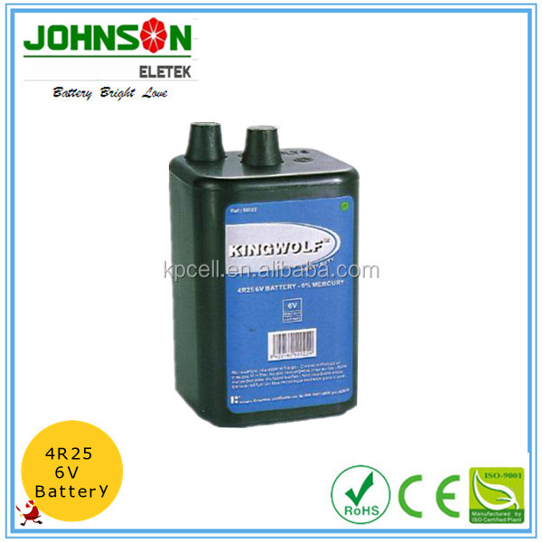 6V zinc carbon battery dry cell battery 4R25
