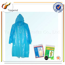 Environmental PE Material rain disposable poncho raincoat