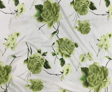 Printed Satin Fabric,Printed Imitated Silk Fabric,Print Type:Flower Garden