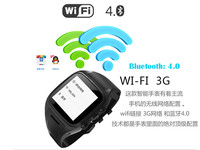 MTK6572 smart watch android dual sim 3G watch phone in Shenzhen factory latest wrist watch mobile phone