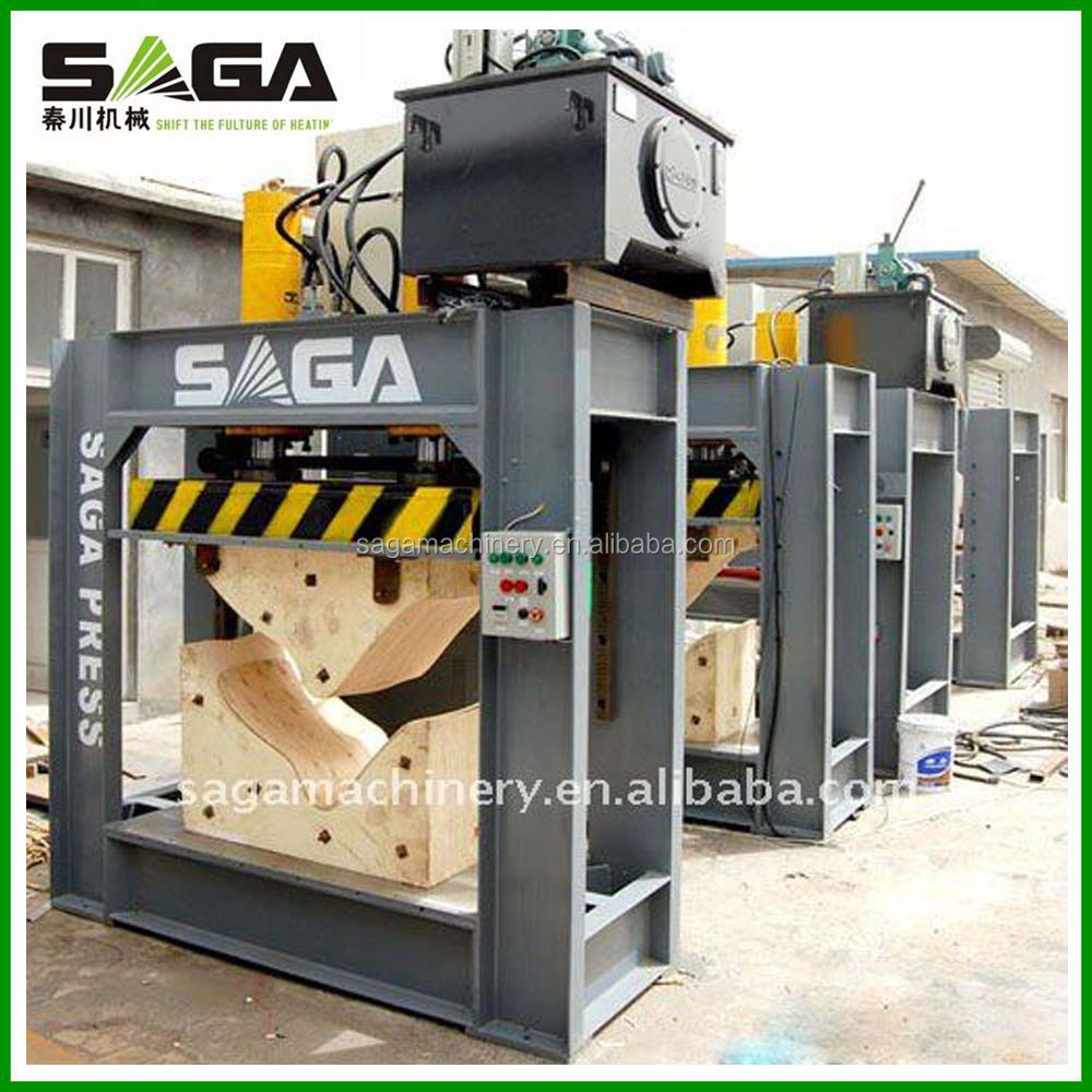 HF power bent wood heated hydraulic press machine for sale