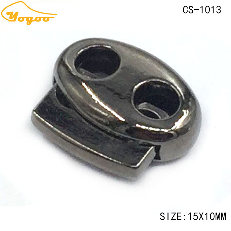 Wholesale Pig Nose Gun Metal Elastic Spring Toggle Cord Lock Stopper for Clothing